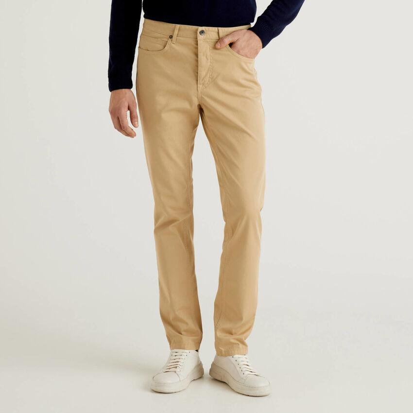 Five pocket slim fit trousers