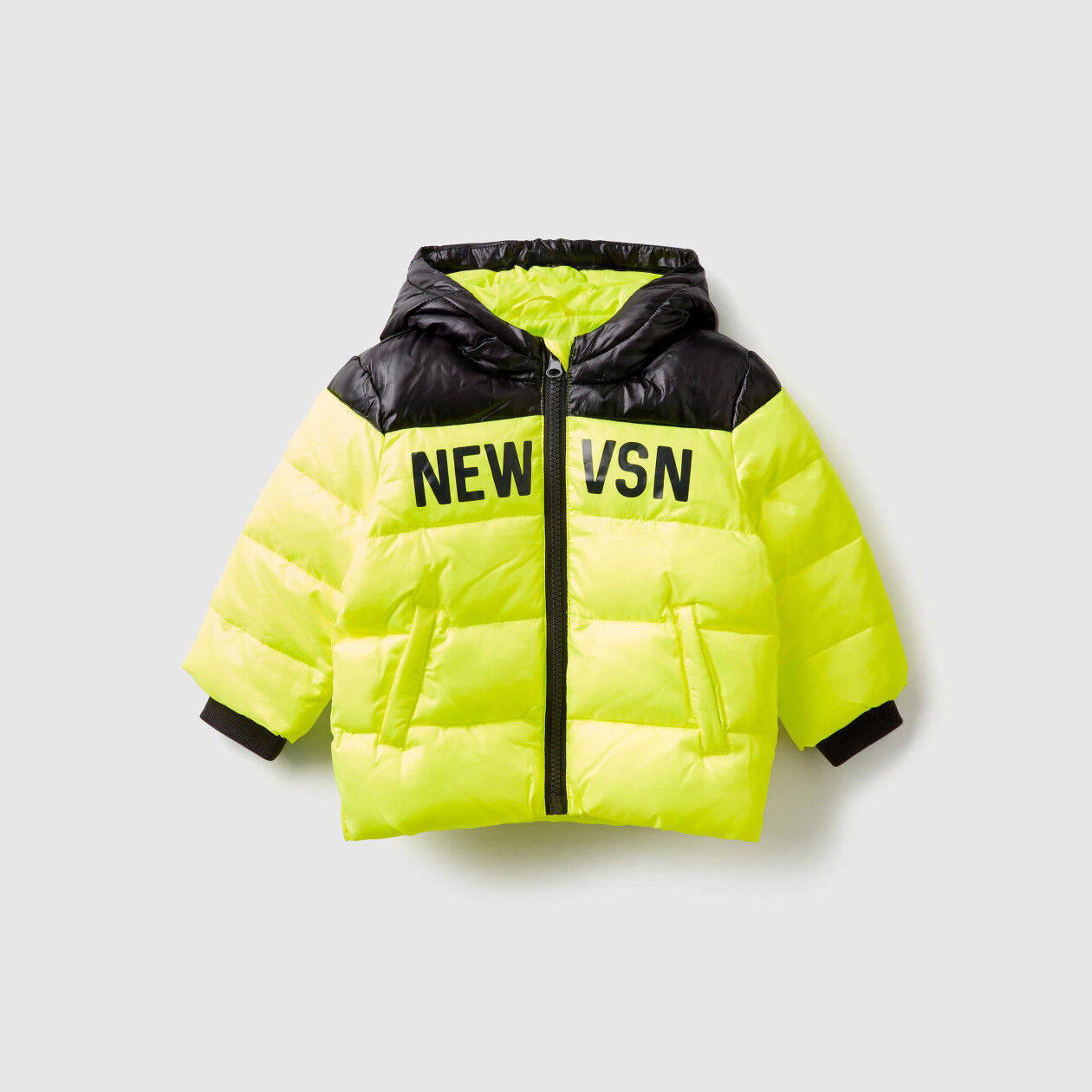 Two-tone padded jacket