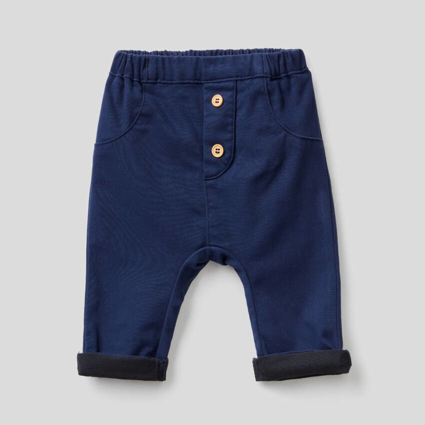 Trousers in stretch cotton blend