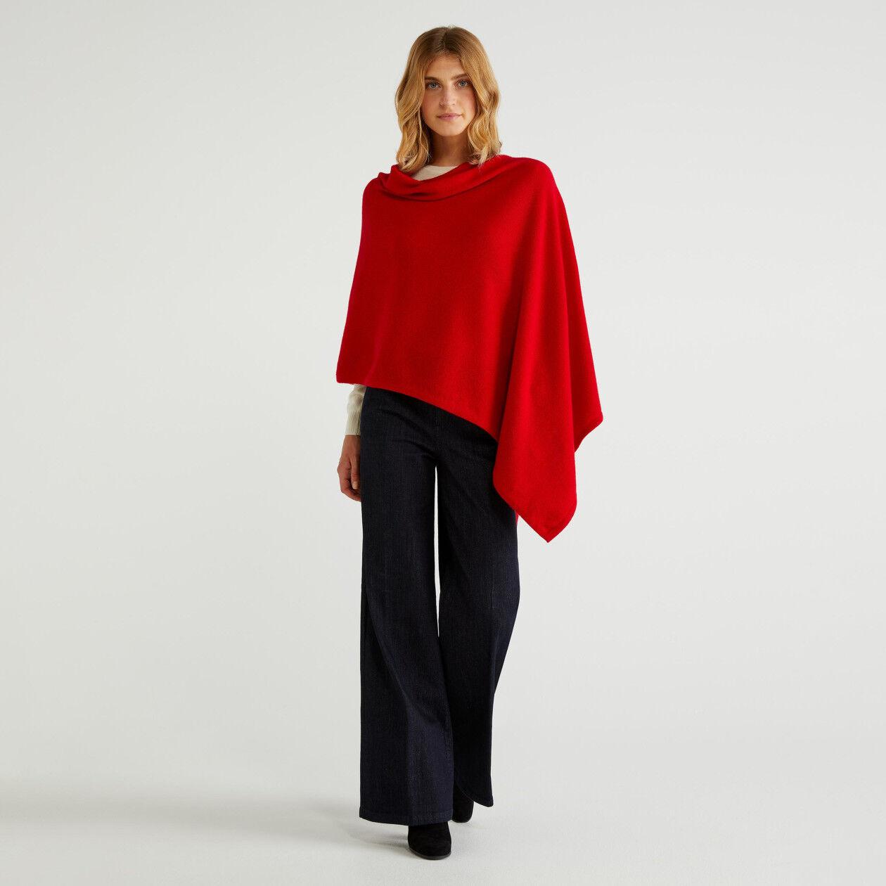 Stockinette stitch cape