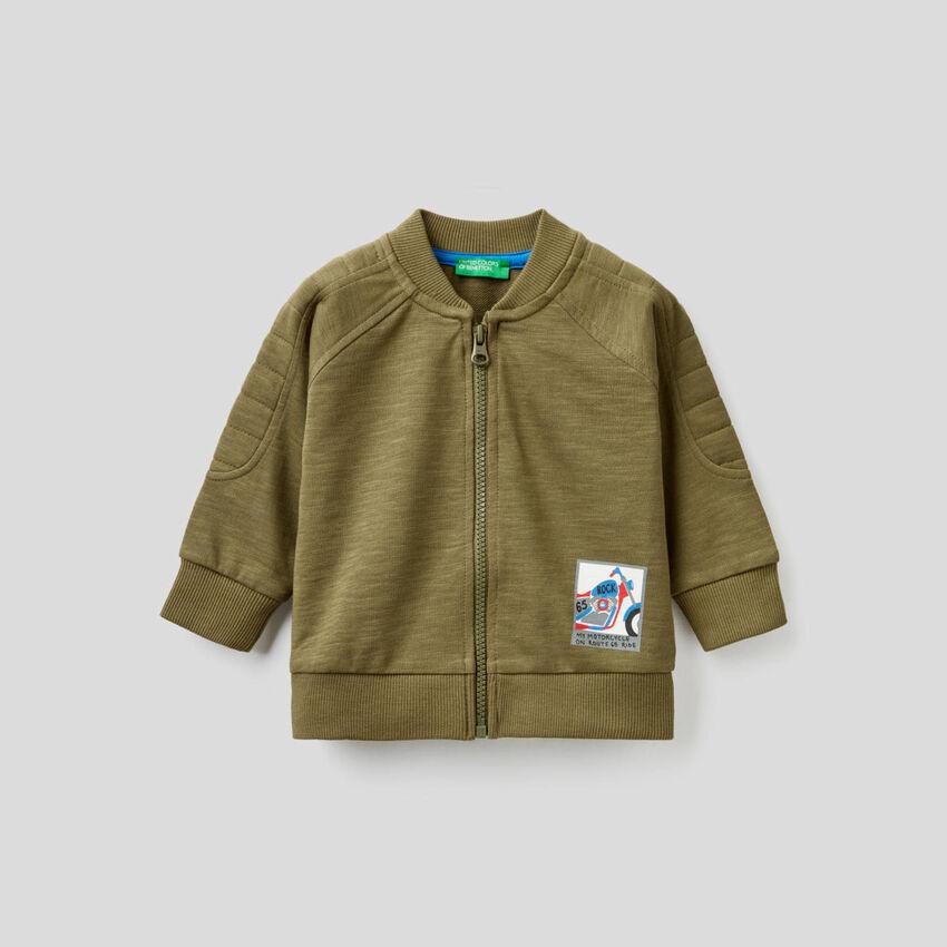 Bomber-style sweatshirt
