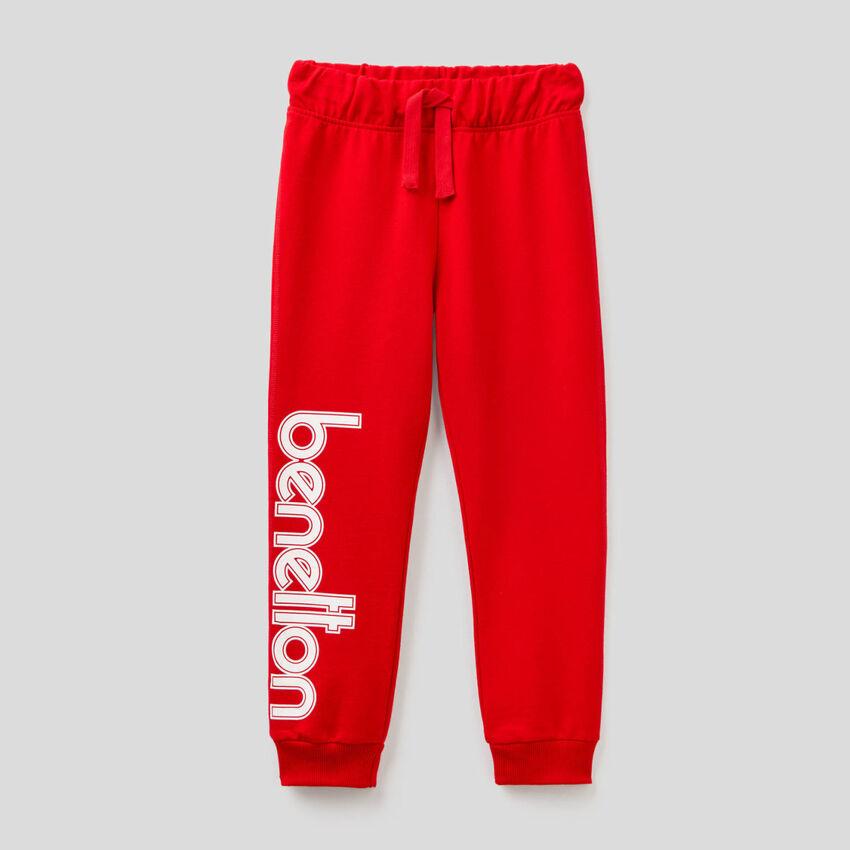 100% cotton sweatpants with logo