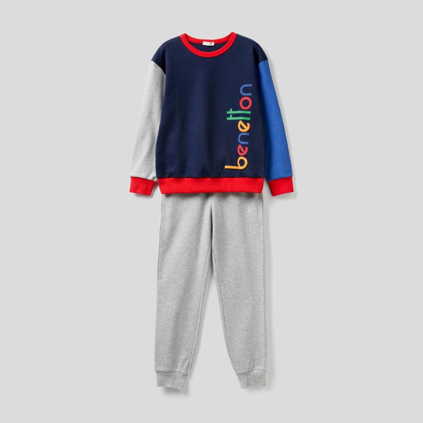 Pure cotton color block pyjamas