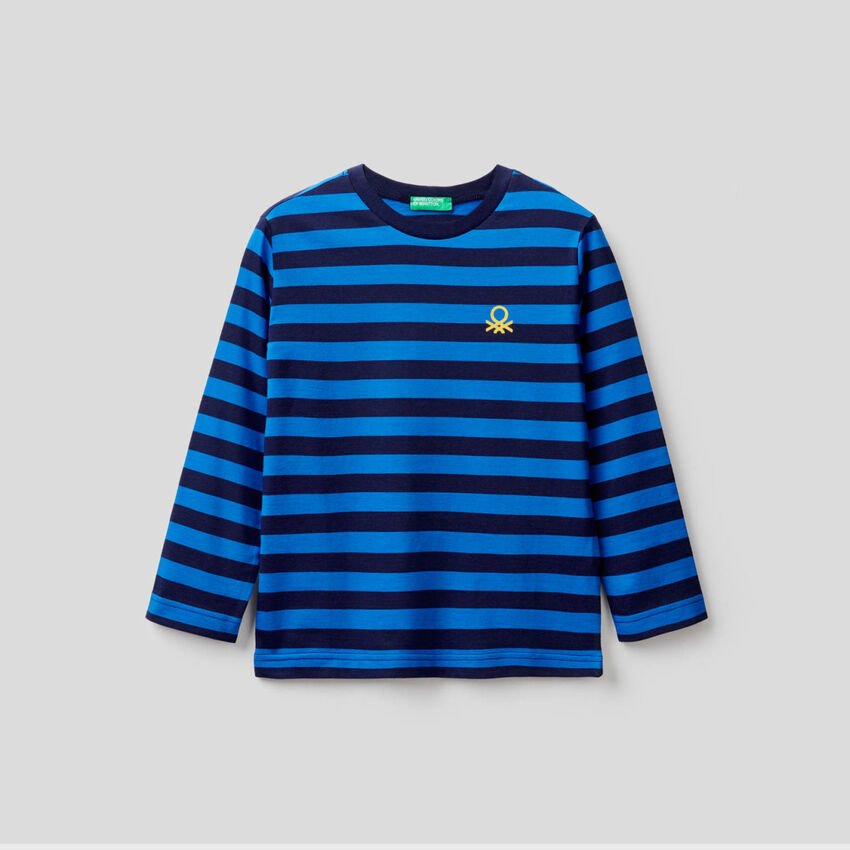 Striped t-shirt in 100% cotton