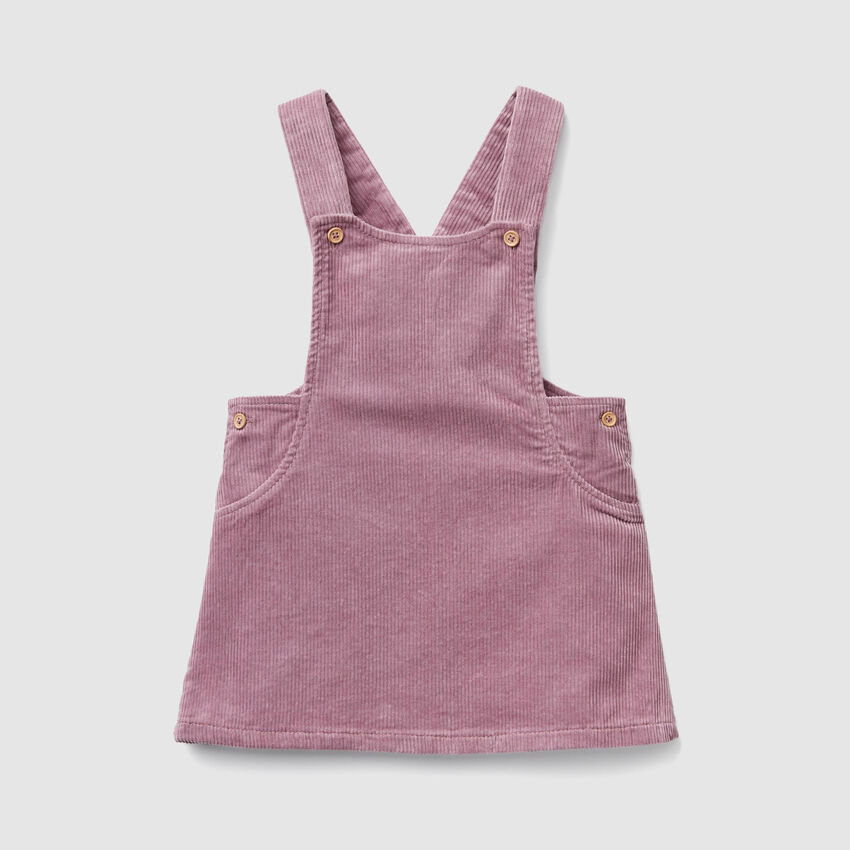 Velvet skirt overalls