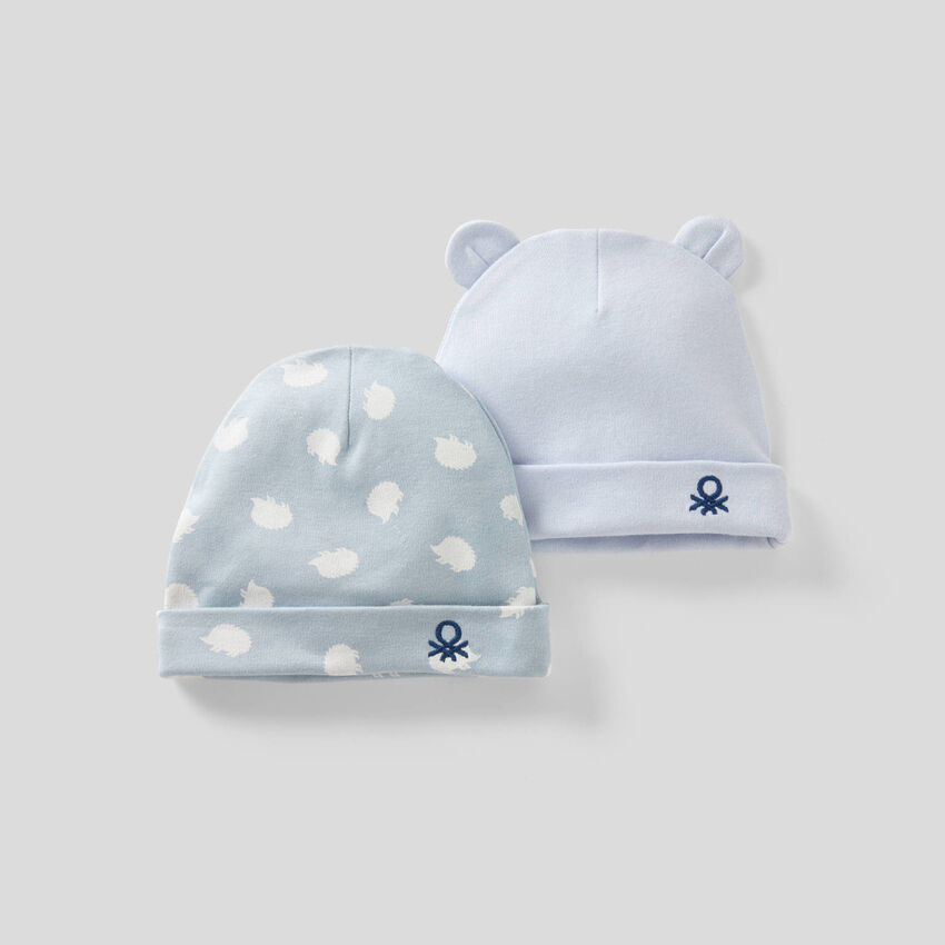 Two hats in 100% organic cotton