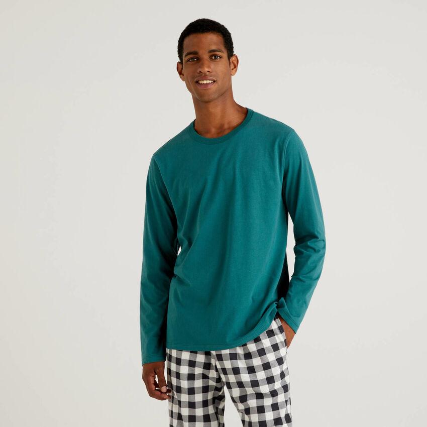 Warm long fiber cotton t-shirt