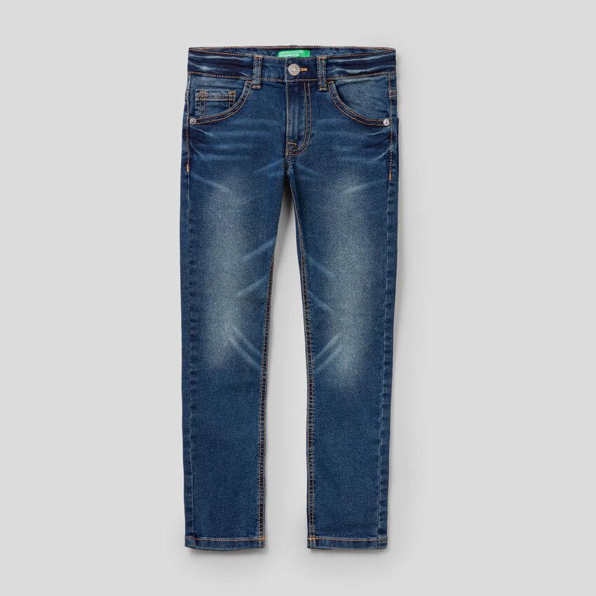 Vintage look skinny fit jeans