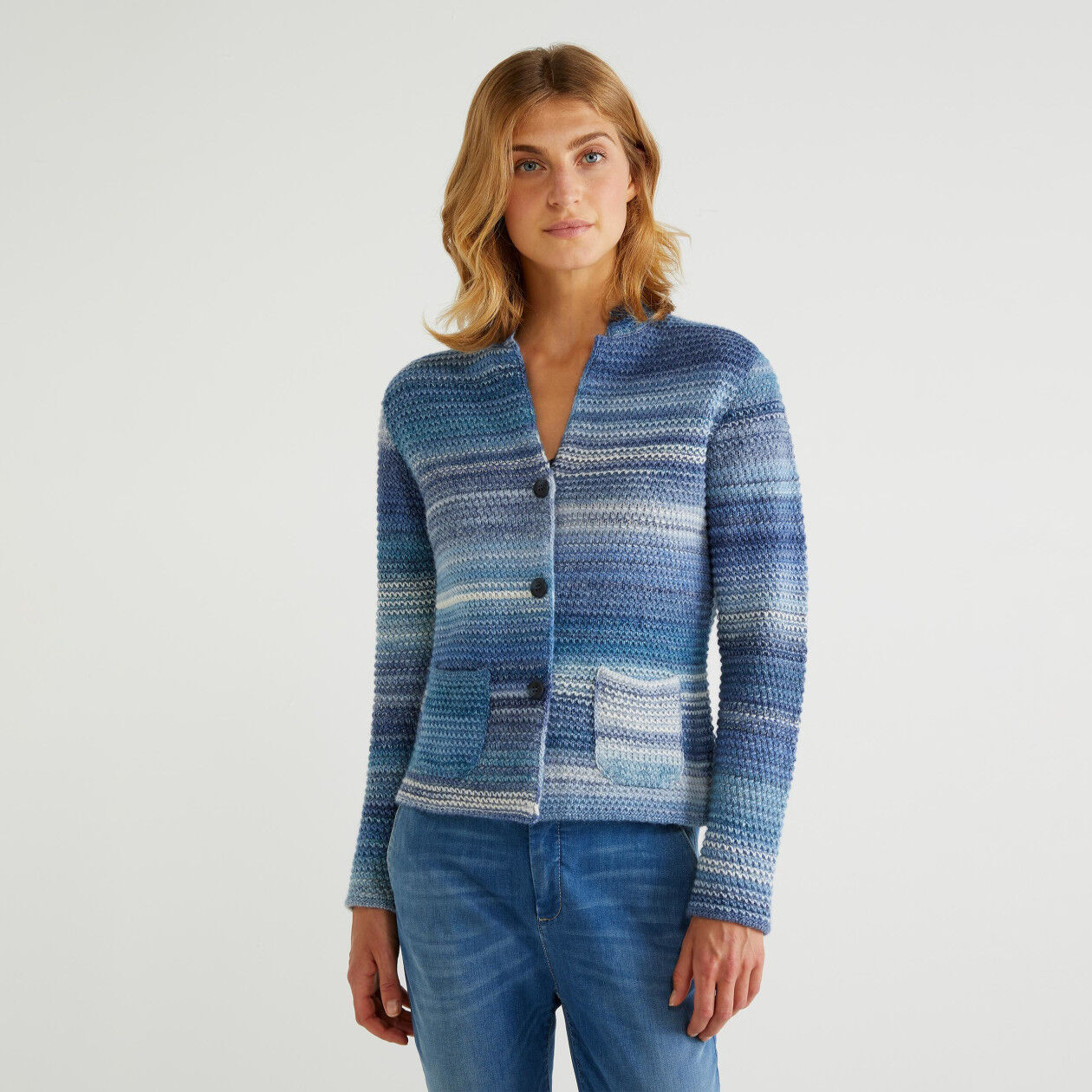 Multicolor knit jacket