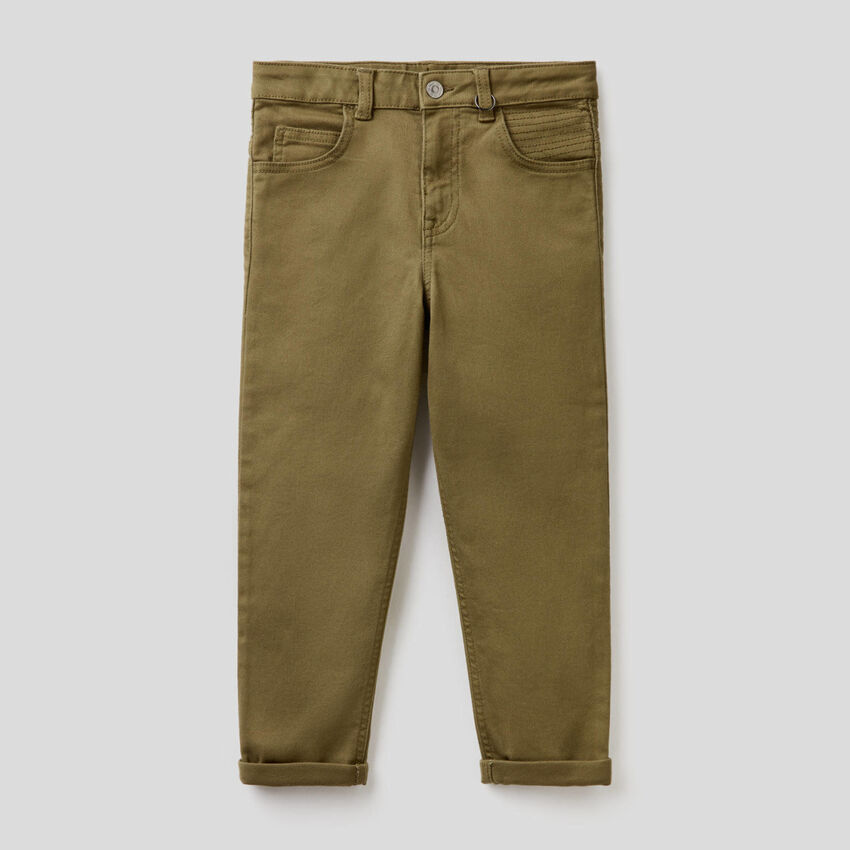 Slim fit trousers with stitching