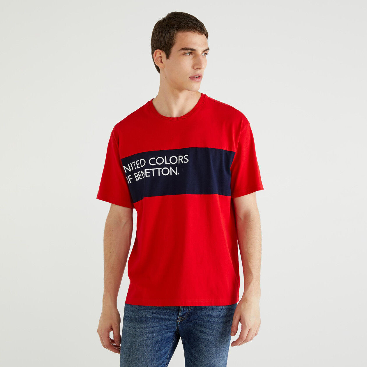 T-shirt with insert and logo