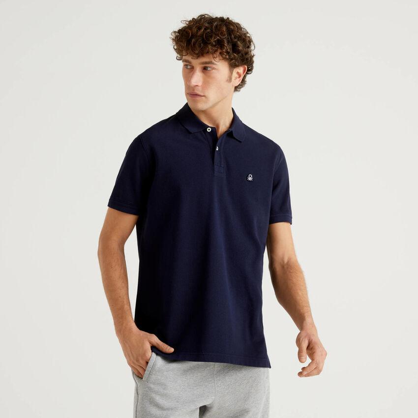 Regular fit dark blue polo