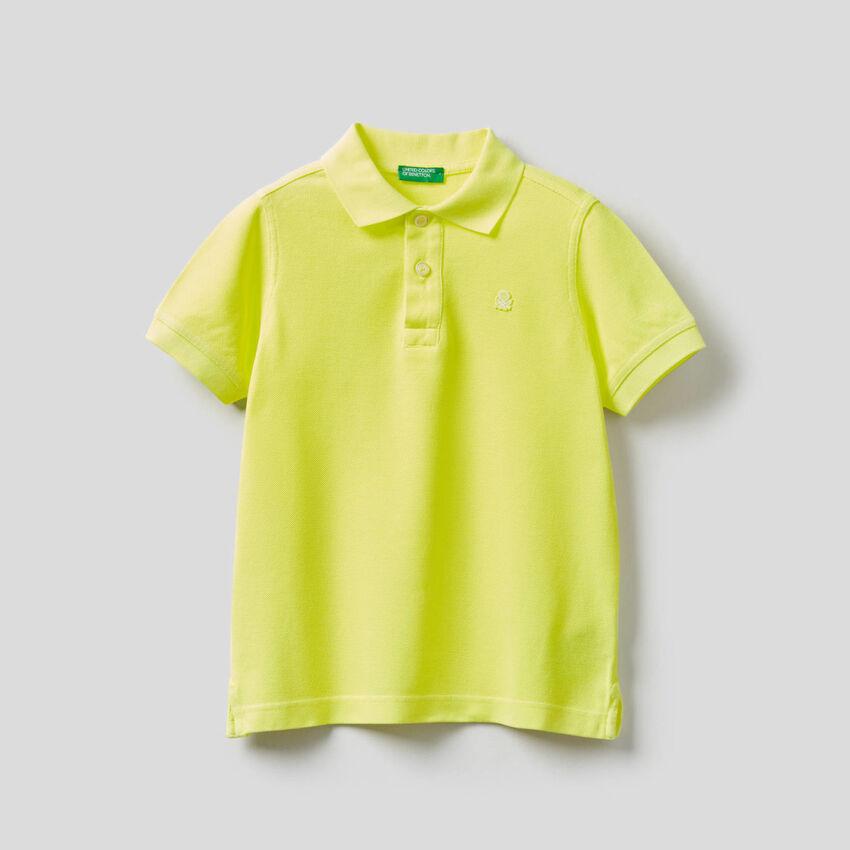 Pure cotton neon polo