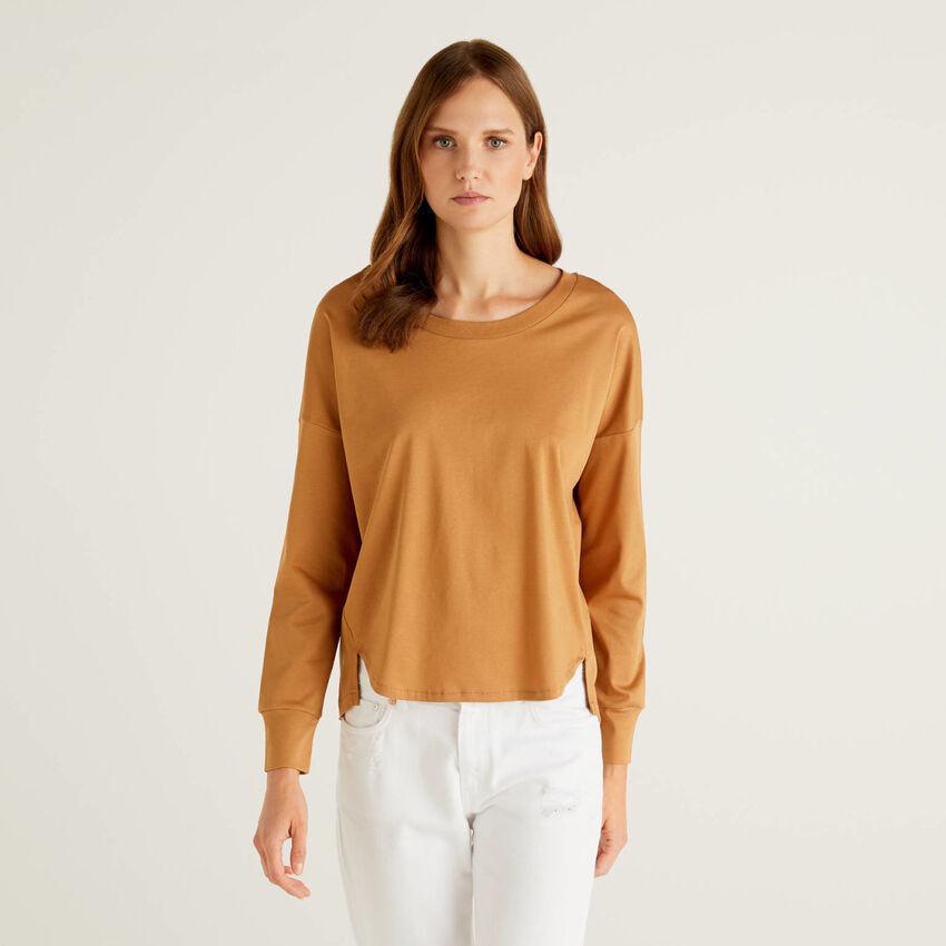 Long sleeve 100% cotton t-shirt