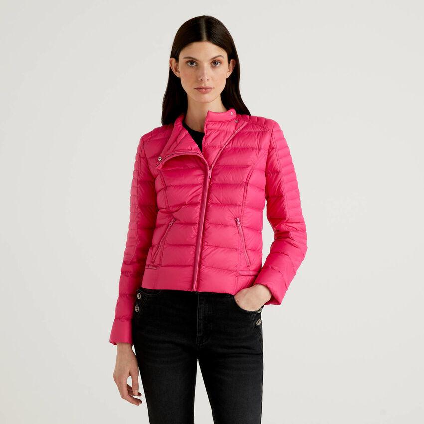 Biker cut padded jacket