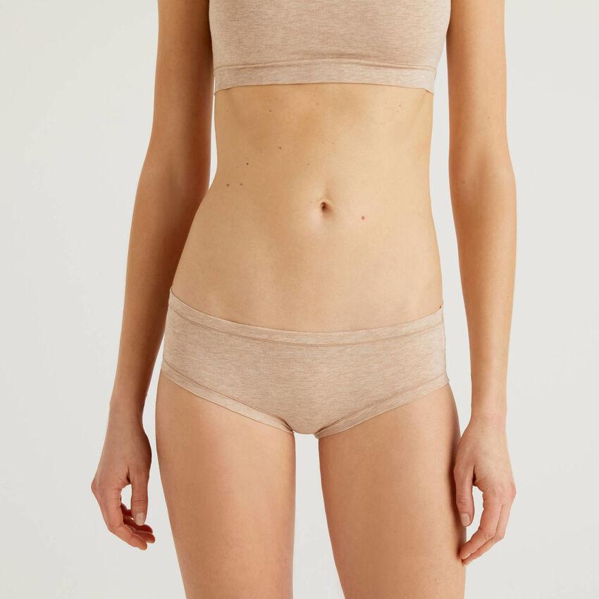 Long fiber stretch cotton underwear