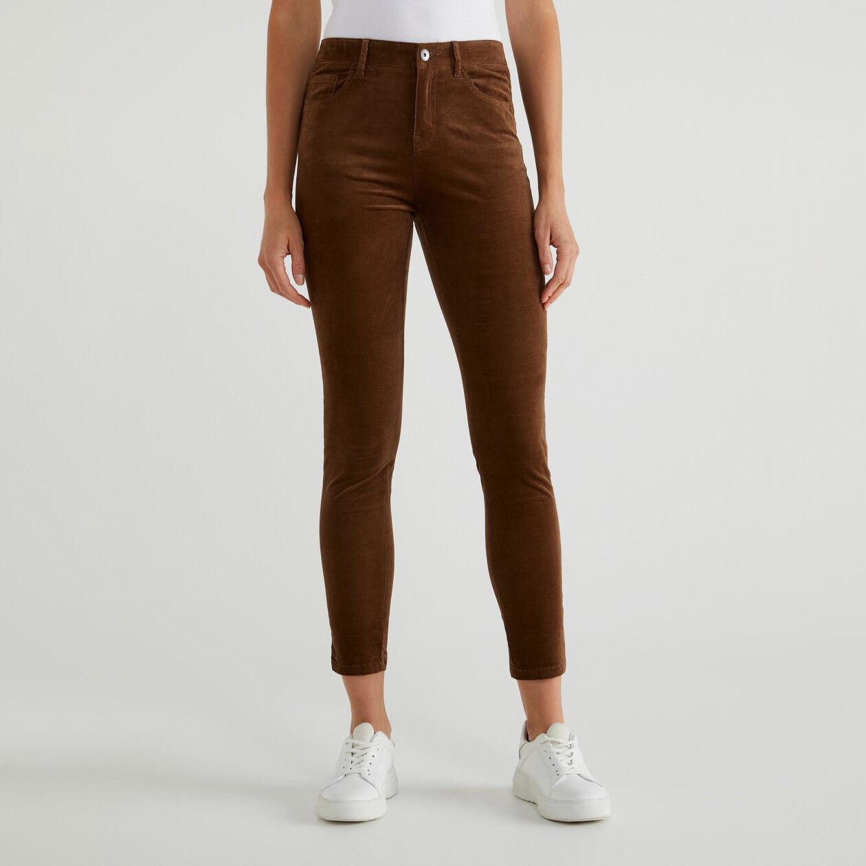 Five pocket velvet trousers
