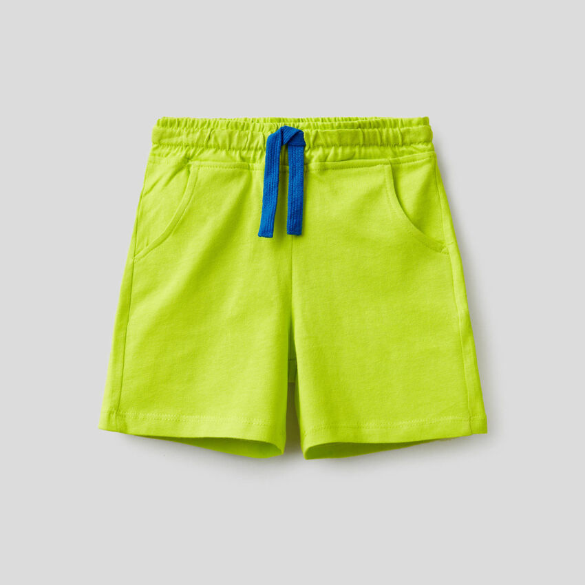 Shorts in pure cotton
