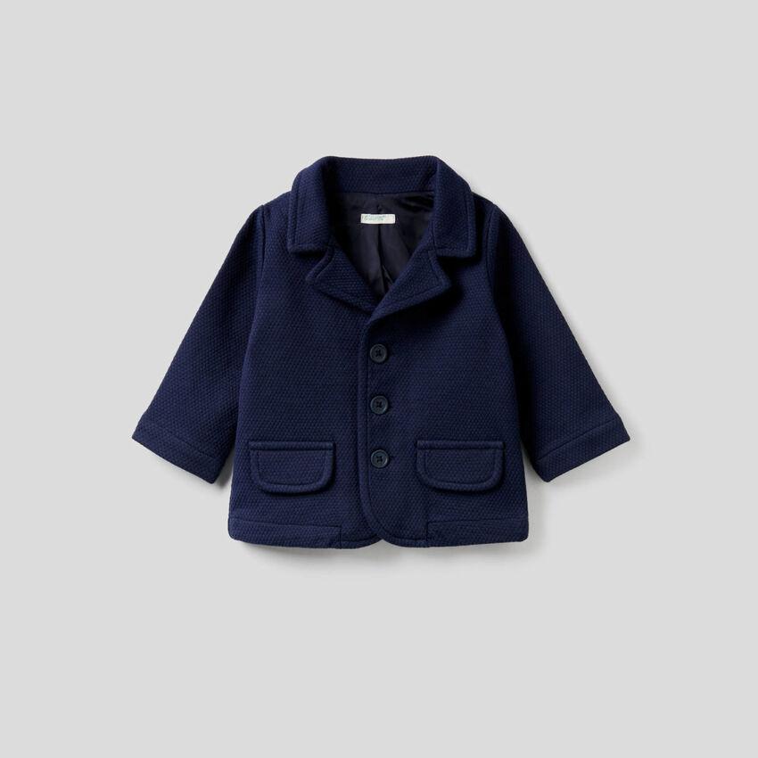Fleece blazer