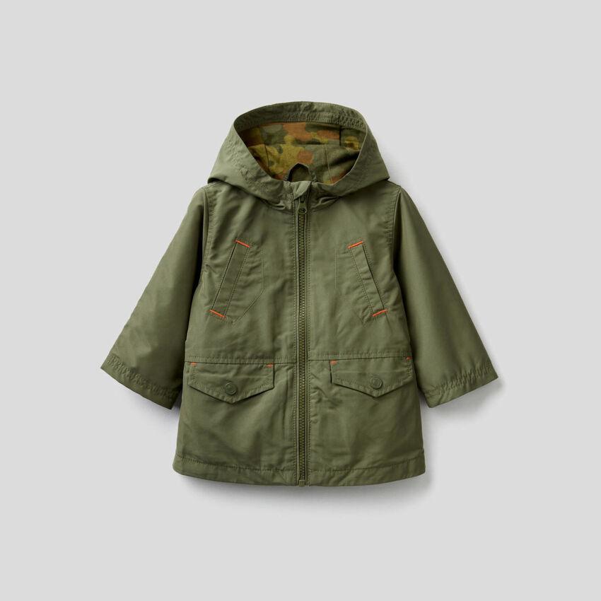 "Parka in ""Rain Defender"" fabric"