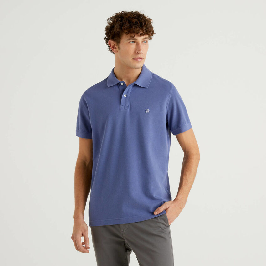 Regular fit air force blue polo