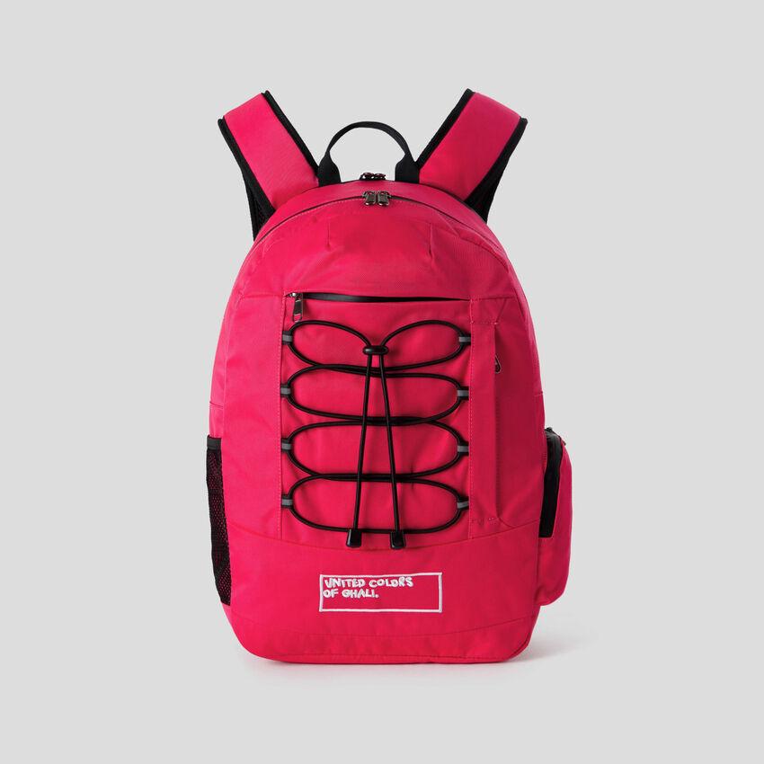 Fuchsia multi-pocket rucksack by Ghali