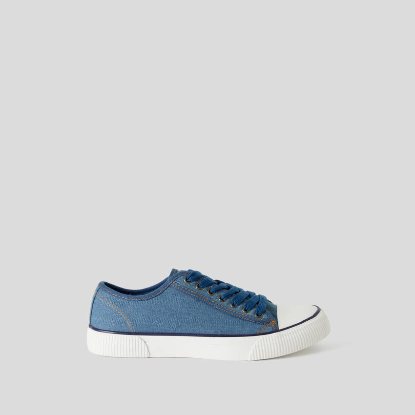 Sneakers in pure cotton