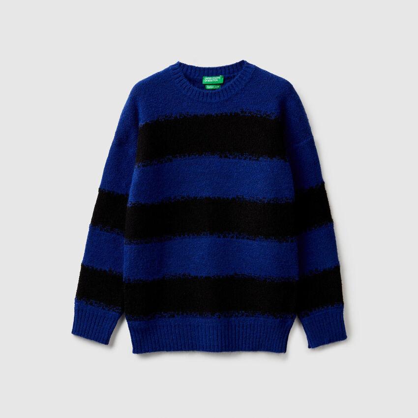 Striped two-tone sweater