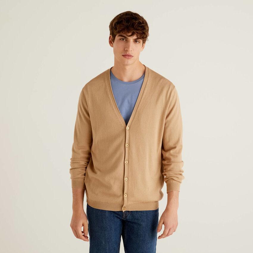 Cardigan in warm 100% cotton